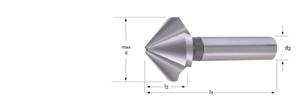Immagine di G142 / Dormer Svasatore con spoglia radiale maggiorata - 90°