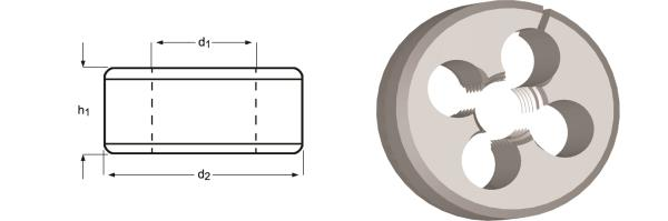 Immagine di F310 / Dormer MF Filiere regolabili